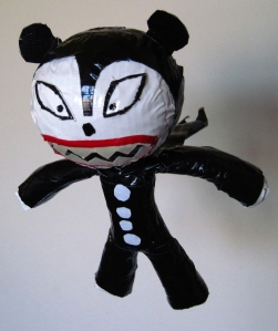 Duck tape toy of Vampire Teddy from the Nightmare before Christmas.