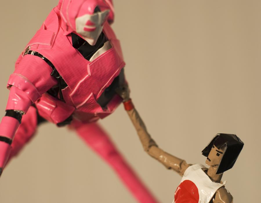 Yoshimi battles the Pink Robot 1